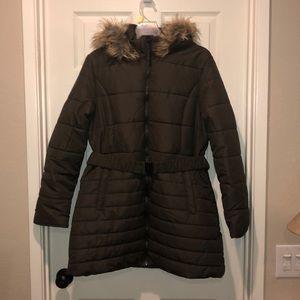 NWT parka jacket olive green